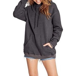 NEW Wildfox Colin Oversized Pullover Hoodie Black